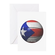Puerto Rican Basketball Greeting Cards (Pack of 6)
