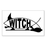 Witch Fish Rectangle Sticker