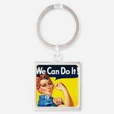 we can do it WALLET Square Keychain