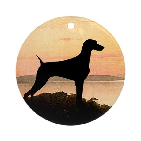 Weimaraner Sunset Ornament (Round)