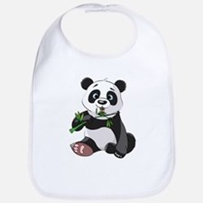 Panda Eating Bamboo-2 Bib