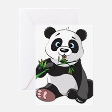 Panda Eating Bamboo-2 Greeting Cards