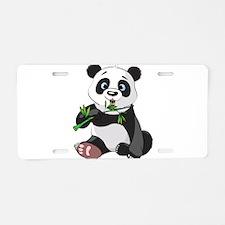 Panda Eating Bamboo-2 Aluminum License Plate
