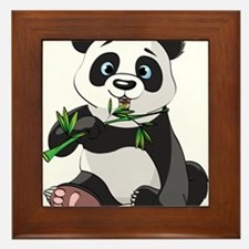 Panda Eating Bamboo-2 Framed Tile