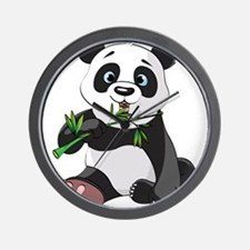 Panda Eating Bamboo-2 Wall Clock