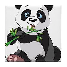 Panda Eating Bamboo-2 Tile Coaster