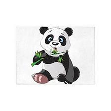 Panda Eating Bamboo-2 5'x7'Area Rug
