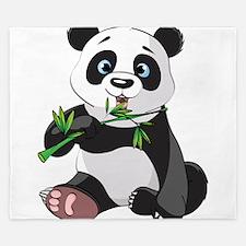 Panda Eating Bamboo-2 King Duvet