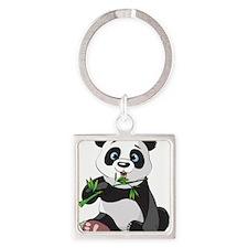 Panda Eating Bamboo-2 Keychains