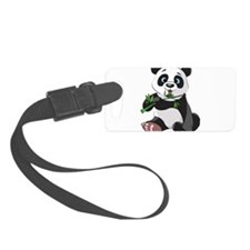 Panda Eating Bamboo-2 Luggage Tag
