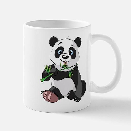 Panda Eating Bamboo-2 Mugs