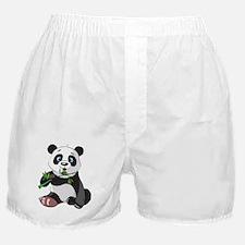 Panda Eating Bamboo-2 Boxer Shorts