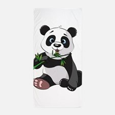 Panda Eating Bamboo-2 Beach Towel