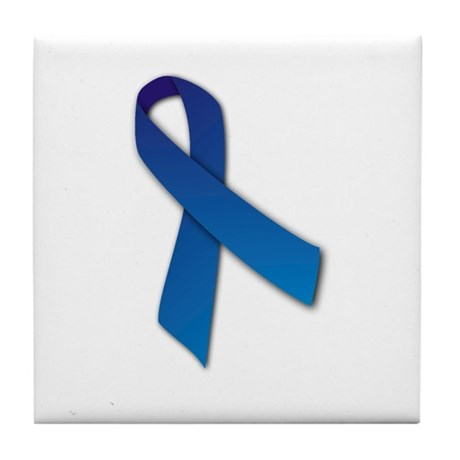 Blue Ribbon Tile Coaster
