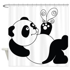 Panda with Butterfly Shower Curtain