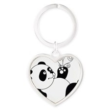 Panda with Butterfly Keychains
