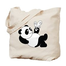 Panda with Butterfly Tote Bag