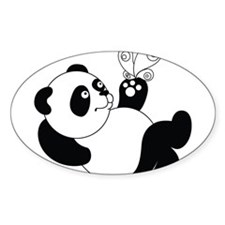 Panda with Butterfly Decal
