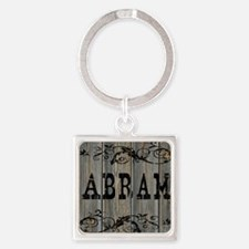 Abram, Western Themed Square Keychain