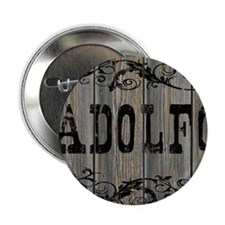 "Adolfo, Western Themed 2.25"" Button"