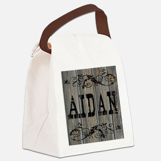 Aidan, Western Themed Canvas Lunch Bag