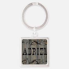Adriel, Western Themed Square Keychain