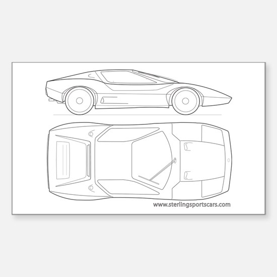 Sports Cars Rectangle Decal