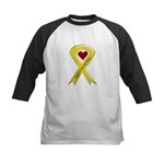 Support Our Air Force Yellow Kids Baseball Jersey