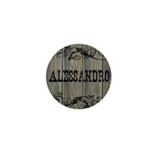 Alessandro, Western Themed Mini Button