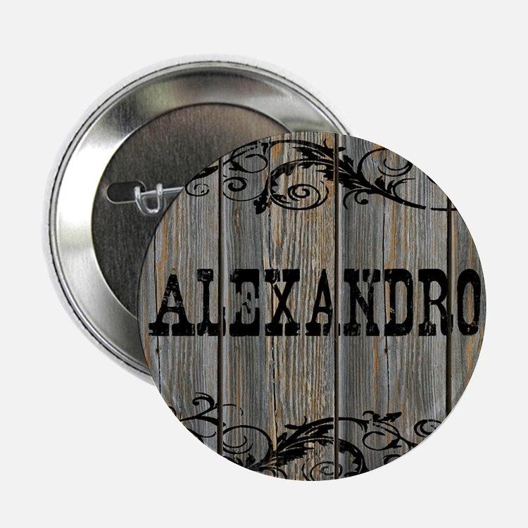 "Alexandro, Western Themed 2.25"" Button"