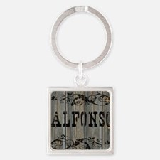 Alfonso, Western Themed Square Keychain