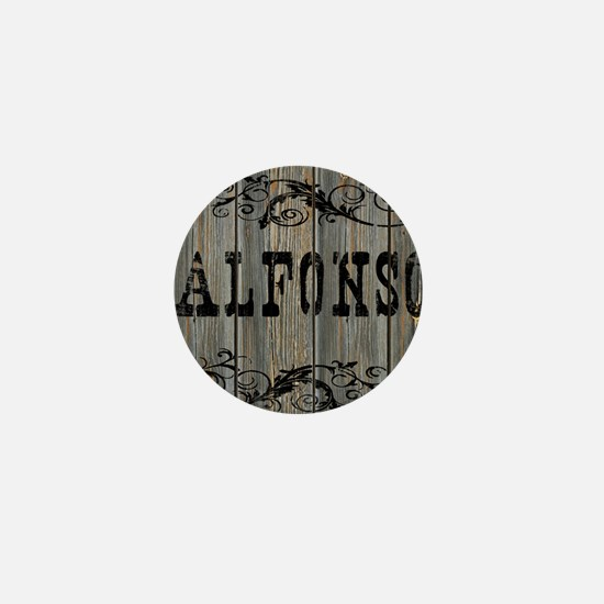 Alfonso, Western Themed Mini Button