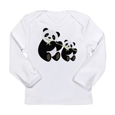 Two Pandas with Bamboo Long Sleeve T-Shirt