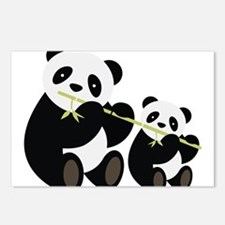 Two Pandas with Bamboo Postcards (Package of 8)