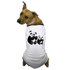 Two Pandas with Bamboo Dog T-Shirt