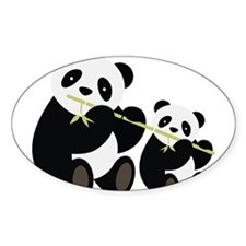 Two Pandas with Bamboo Decal