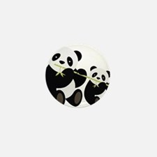 Two Pandas with Bamboo Mini Button