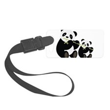 Two Pandas with Bamboo Luggage Tag