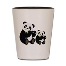 Two Pandas with Bamboo Shot Glass