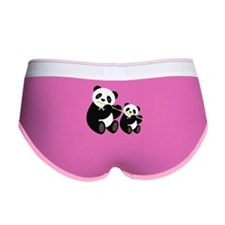 Two Pandas with Bamboo Women's Boy Brief