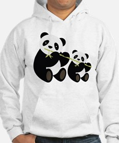 Two Pandas with Bamboo Hoodie