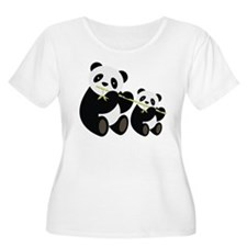 Two Pandas with Bamboo Plus Size T-Shirt