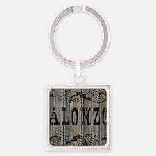Alonzo, Western Themed Square Keychain