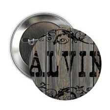 "Alvin, Western Themed 2.25"" Button"