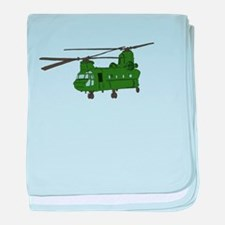 Chinook Helicopter baby blanket