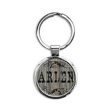 Arlen, Western Themed Round Keychain
