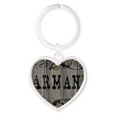 Armani, Western Themed Heart Keychain