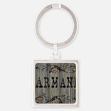 Armani, Western Themed Square Keychain