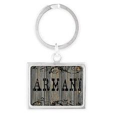 Armani, Western Themed Landscape Keychain