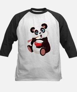 Panda Eating Rice Baseball Jersey